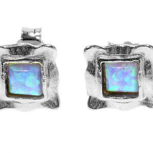 Sterling Silver Opal Studs