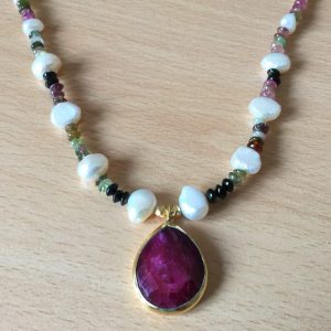 yaron morhaim bead and pearl necklace