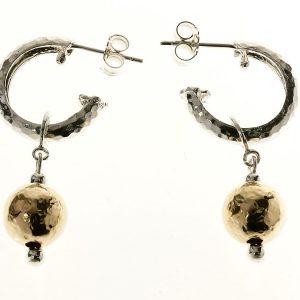 Gold Drop Detail Loop Earrings