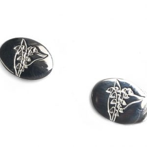 cornish tin & silver lily of the valley cufflinks