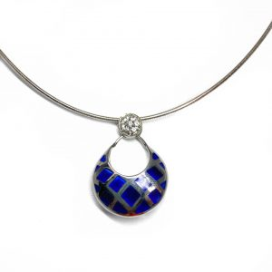Silver & Sapphire Contemporary Necklace