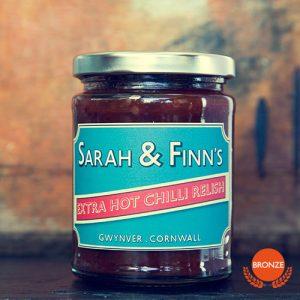 Image of Cornish extra hot chilli relish
