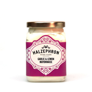 Image of garlic and lemond mayonnaise from halzephron