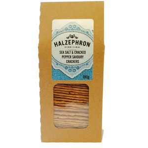 Image of sea salt and pepper savoury crackers from halzephron