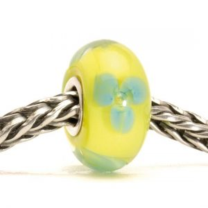 Image of turquoise flower bead - trollbeads