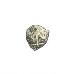 Shipwrecked silver cob coin