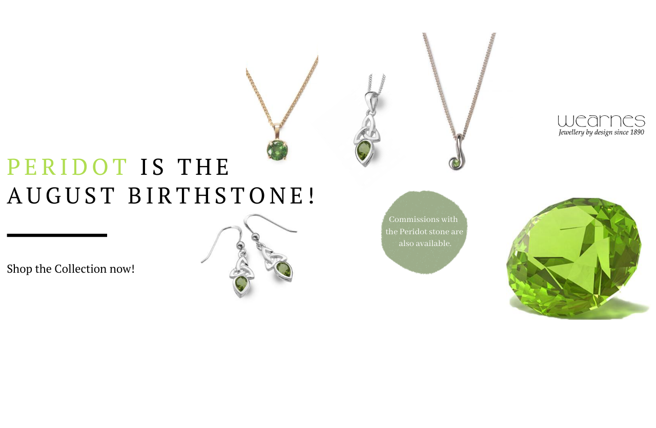 peridot birth month stone banner