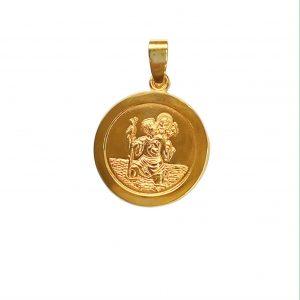 Cornish tin & gold st christopher