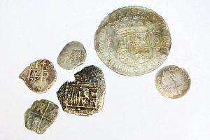 Shipwrecked silver cob coins