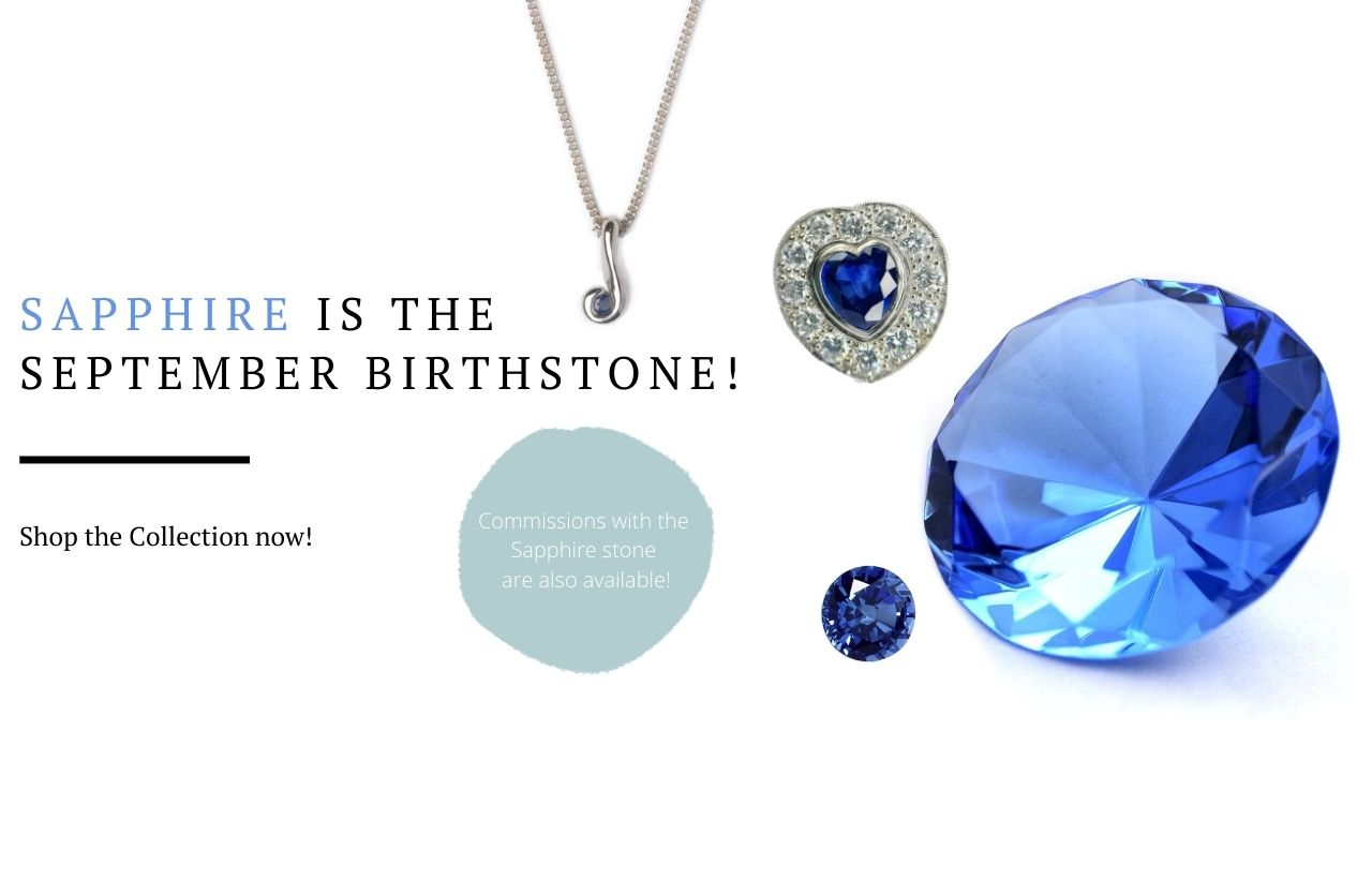 Sapphire birthstone website banner