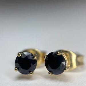 small sapphire 9ct gold stud earrings