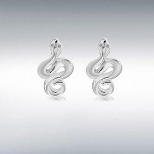Sterling silver snake studs