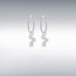 Silver Star Creole Hoops
