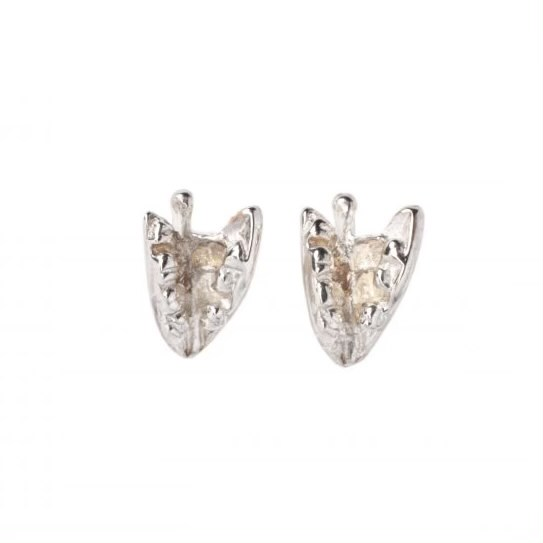 cornish tin & silver lily of the valley stud earrings