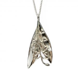 cornish tin & silver lily of the valley necklace