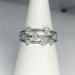 18ct Diamond Bubble Ring