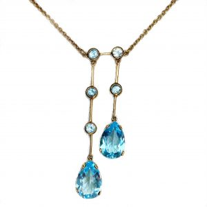 Double Teardrop Topaz Necklace