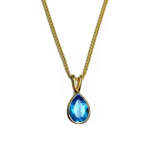 9ct Gold Topaz Necklace