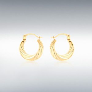 9ct Gold Twist Earrings