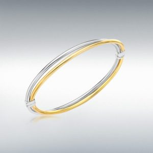9ct Gold Double Crossover Bangle
