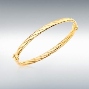 9ct Yellow Gold Twist-Detail Bangle