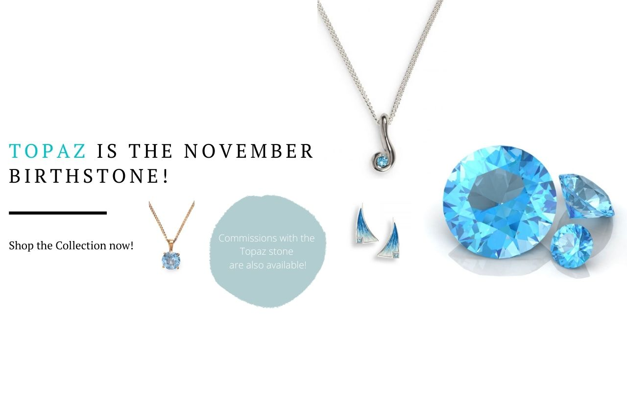 November birthstone topaz banner