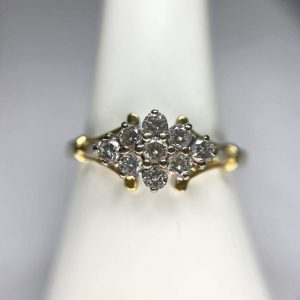 Diamond Cluster Gold Ring