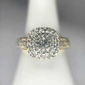 Halo Diamond Gold Ring