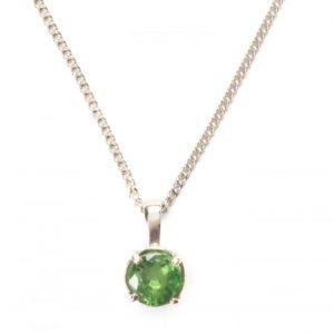 Cornish tin & silver peridot necklace