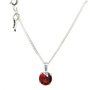 Cornish tin & silver garnet necklace