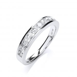 Half Diamond Eternity Ring