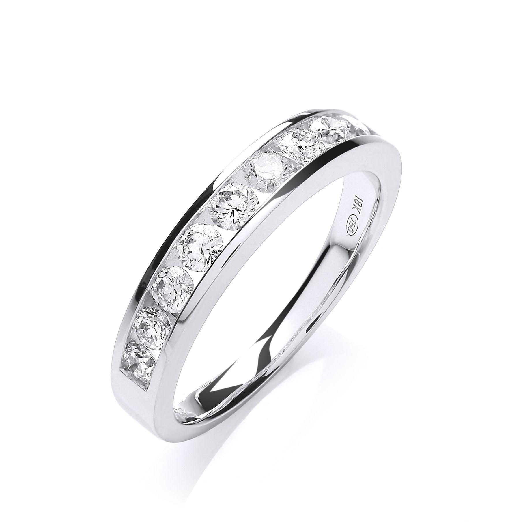 Wearnes jewellers Half Diamond Eternity Ring