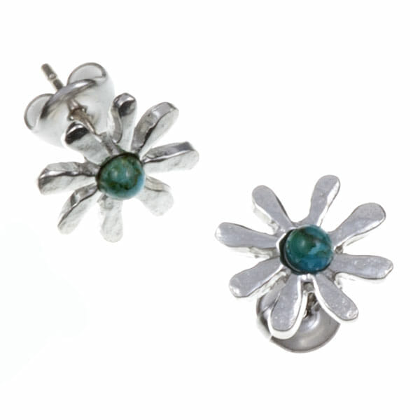Dahlia Turquoise Stud Earrings
