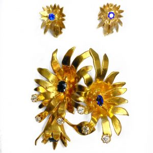 Antique Brooch & Earring Set