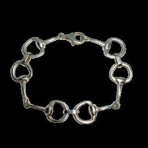 Silver Horse Bit Bracelet