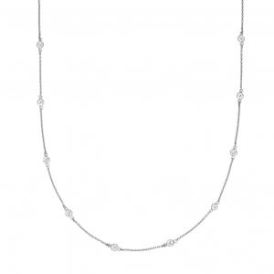 Silver Sahara CZ Necklace