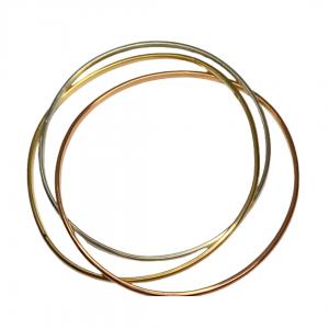 3 Tone Gold Russian Bangles