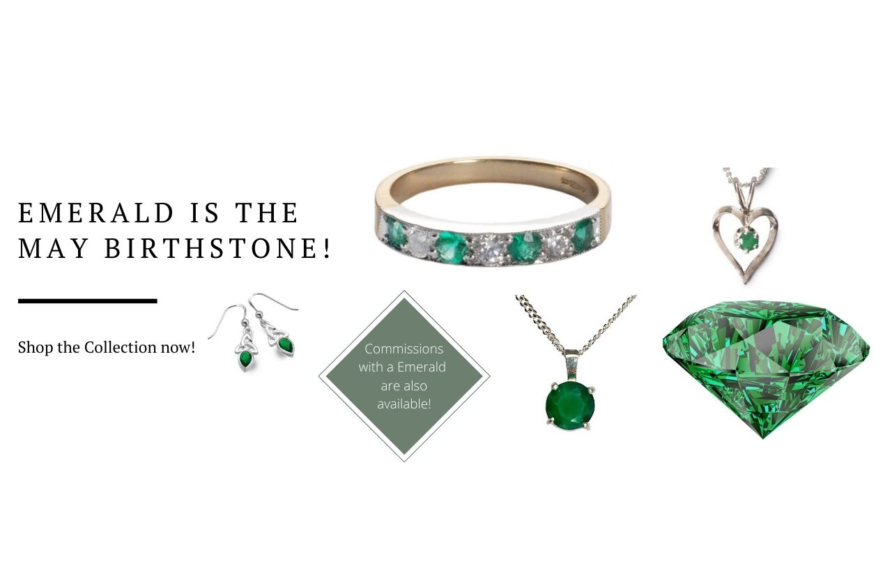 Emerald birthstone banner for May