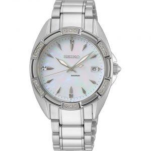 Ladies Silver & Pearl Watch
