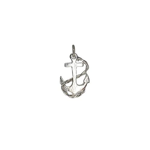 Tin & silver anchor charm