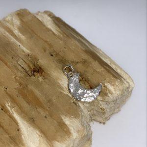 Tin & silver Moon charm