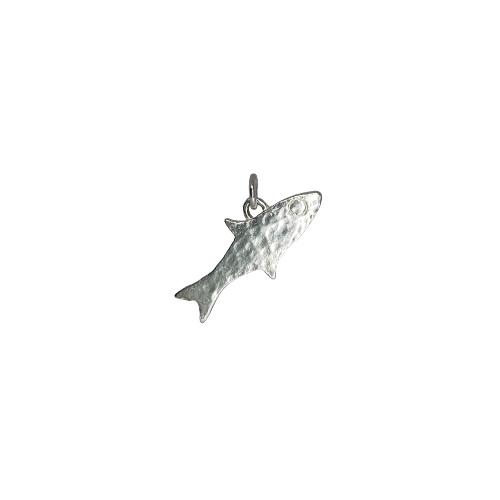 Tin & silver Fish charm