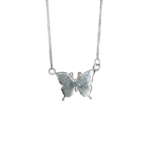 Tin & silver Butterfly necklace