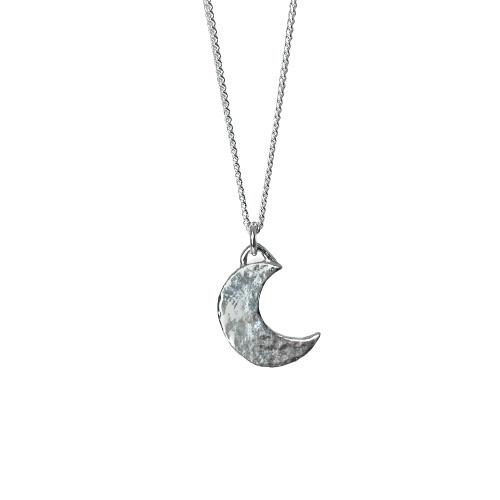 Tin & silver Moon necklace