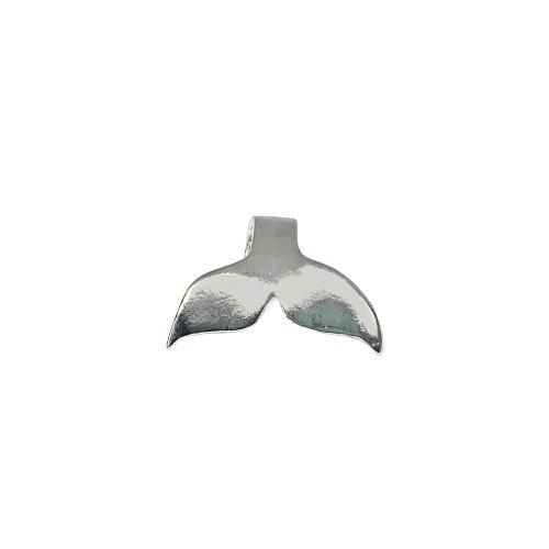 Tin & silver Whale charm